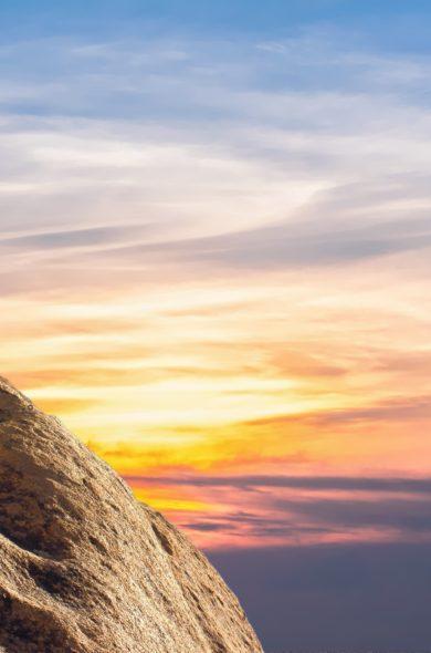 Bergwanderung Sonnenuntergang