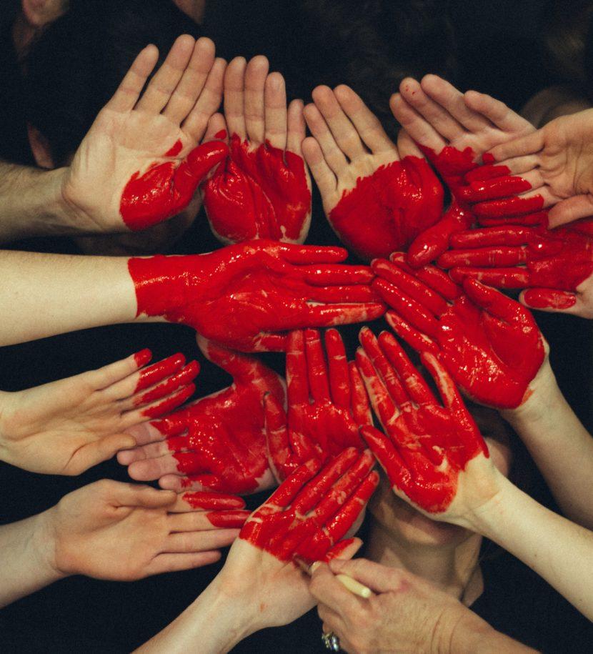Bemalte Hände