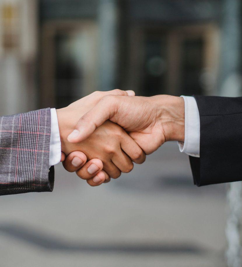 Begrüßung eines Kunden